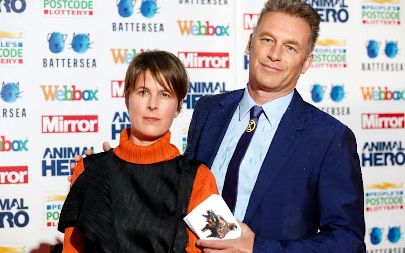 Chris Packham with his partner Charlotte Corney - David Parry/PA Wire