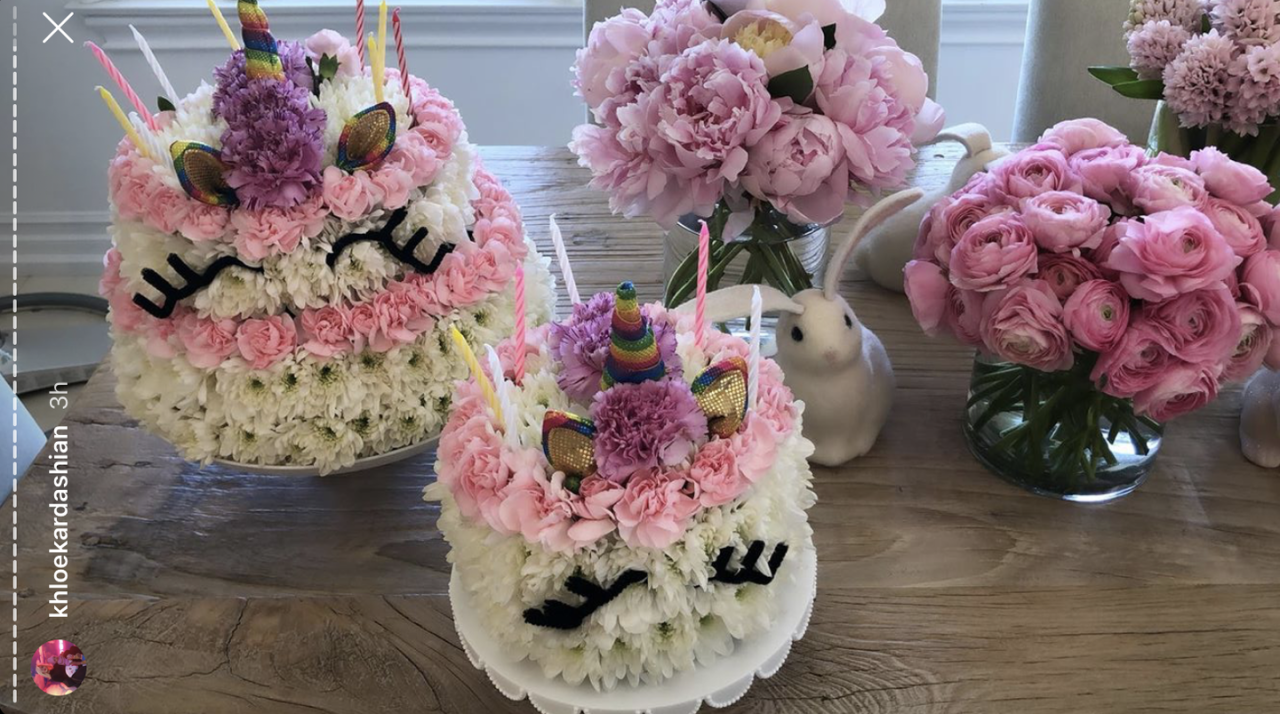 <p>Khloe's daughter turned one and the family celebrated with a few floral unicorn cakes...</p>