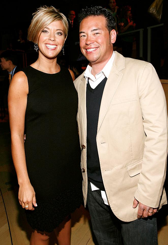 "<p class=""MsoNoSpacing""><span style="""">For their ninth anniversary in August 2008, Jon and Kate Gosselin renewed their vows in a lavish ceremony in Hawaii – all for their TLC reality show, of course. After the ceremony, Kate explained to her eight kids that the renewal signified a ""promise"" that mommy and daddy ""will always be together."" So much for that! Ten months later, the couple called it quits after photos surfaced online of Jon partying with college coeds. Soon after, he started dating Hailey Glassman, the 22-year-old daughter of the plastic surgeon who did Kate's tummy tuck.</span></p>"