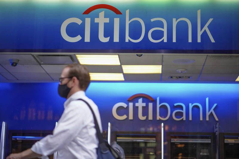 """Photo by: John Nacion/STAR MAX/IPx 2020 8/3/20 A view of a Citibank logo as Bloomberg report """"Citi Sued by Gay Employee for Discrimination, Retaliation"""". New York City continues to Phase 4 of re-opening following restrictions imposed to curb the coronavirus pandemic on August 3, 2020 in New York City. Phase 4 of reopening: Zoos, pro sports, TV and movie crews."""
