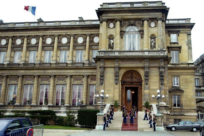 FILE PHOTO: Outside view of the Quai d'Orsay building, headquarters of France's Ministry of Foreign Affairs in P..