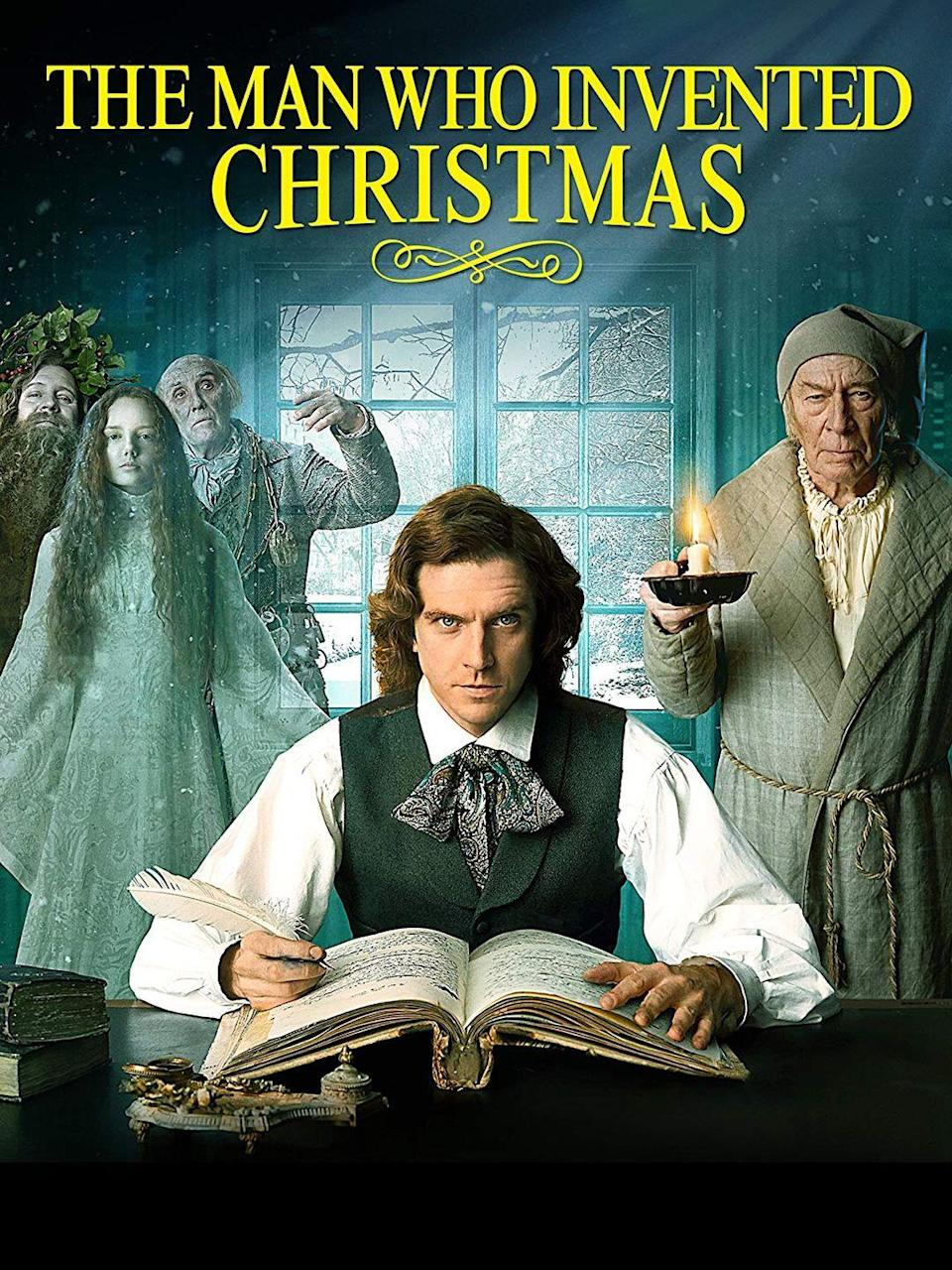 """<p>This story behind the story of how Charles Dickens dreamed up the classic <em>A Christmas Carol</em> stars Dan Stevens (of <em>Downton Abbey</em> fame) and is a delight for all ages. Trust us: This film could jump-start joy even in Scrooge.</p><p><a class=""""link rapid-noclick-resp"""" href=""""https://www.amazon.com/Man-Who-Invented-Christmas/dp/B077MFZMB3/?tag=syn-yahoo-20&ascsubtag=%5Bartid%7C10055.g.1315%5Bsrc%7Cyahoo-us"""" rel=""""nofollow noopener"""" target=""""_blank"""" data-ylk=""""slk:WATCH NOW"""">WATCH NOW</a></p>"""