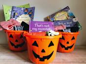 """<p>From <a href=""""https://www.goodhousekeeping.com/holidays/halloween-ideas/g24077320/halloween-books/"""" rel=""""nofollow noopener"""" target=""""_blank"""" data-ylk=""""slk:Halloween board books"""" class=""""link rapid-noclick-resp"""">Halloween board books</a> to real <a href=""""https://www.goodhousekeeping.com/life/entertainment/g3915/scary-kids-books/"""" rel=""""nofollow noopener"""" target=""""_blank"""" data-ylk=""""slk:scary novels for big kids and teens"""" class=""""link rapid-noclick-resp"""">scary novels for big kids and teens</a>, you can always fit a good read in a spooky basket. (Bonus: No sugar!)</p><p><a href=""""https://www.leangreenmamamachine.com/boo-basket-ideas/"""" rel=""""nofollow noopener"""" target=""""_blank"""" data-ylk=""""slk:See more at Lean, Green Mama Machine »"""" class=""""link rapid-noclick-resp""""><em>See more at Lean, Green Mama Machine »</em></a></p>"""