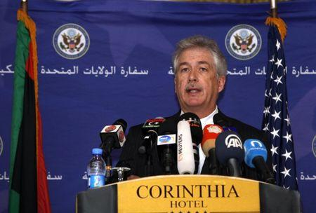 FILE PHOTO: U.S. Deputy Secretary of State William Burns speaks during a news conference in Tripoli Libya April 24, 2014. REUTERS/Ismail Zitouny
