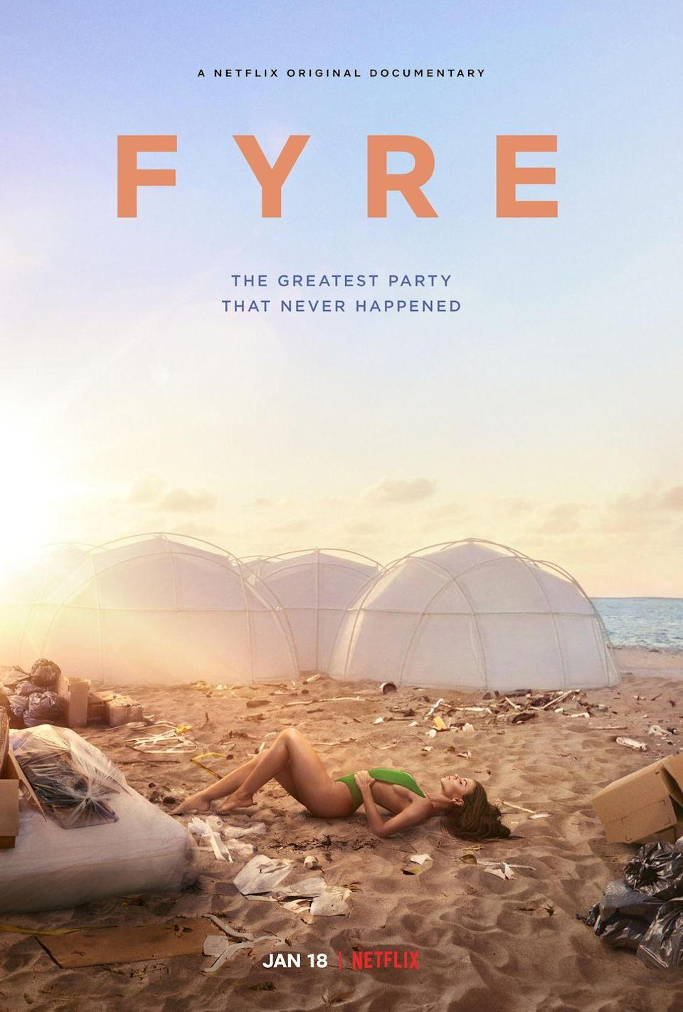 <p>In 2017, hundreds of people spent thousands on tickets to a luxury music festival in the Bahamas. They were promised catered meals, glamorous beach villas, private yachts, and some of the world's hottest musical talent. What they got an industrial lot in a developing country and not a single performer in site. Watch in an extreme state of second-hand embarrassment as a team of scammers pull off the ultimate fail. </p><p><strong>Stream it on Netflix. </strong></p>