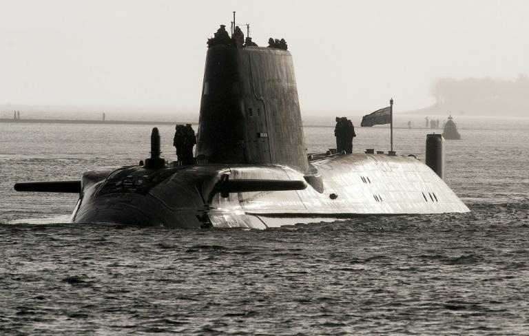 Only six countries in the world, including Britain, have nuclear-powered submarines, Johnson said (AFP/Andy Buchanan)