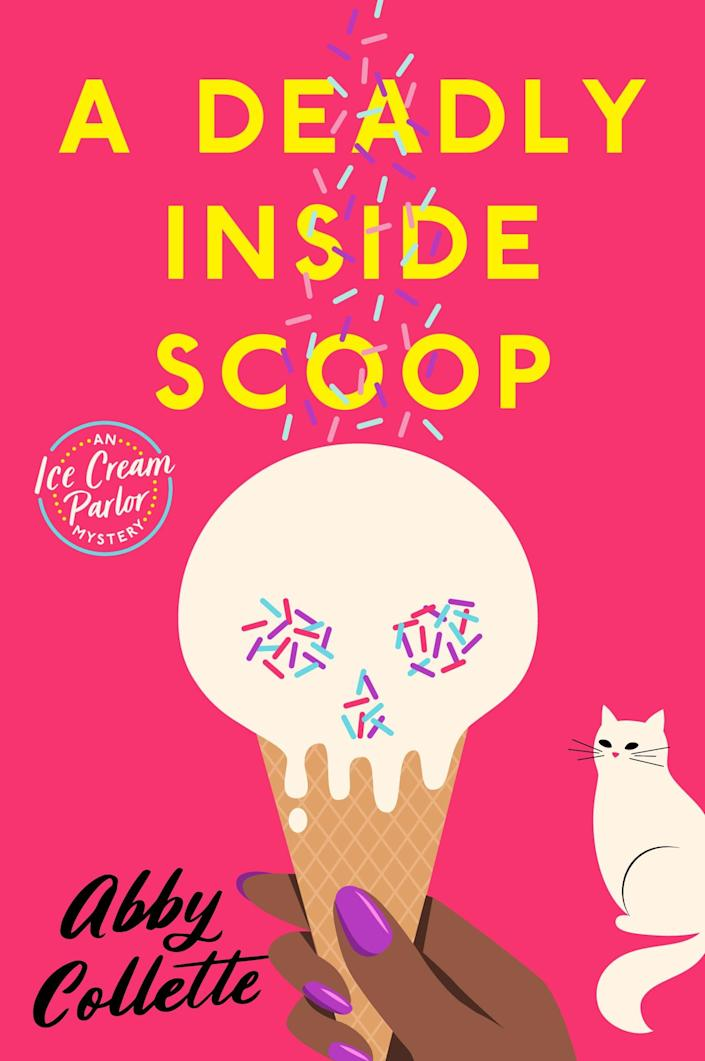 """<p><span><strong>A Deadly Inside Scoop</strong></span> is a quirky, fun thriller about Bronwyn """"Win,"""" a girl that has just taken over her family's ice cream shop. On her opening day, she finds a body in the snow and finds that the victim is somehow connected to her family and the shop. Win and her best friend Maisie try and get to the bottom of this mystery, for the sake of her family name. These characters are fun, lovable and you'll root for them right from the beginning. Author Abby Collette reminds us that not all mystery novels have to be dark and dull.</p>"""