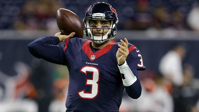 Tom Savage is the next man up for the Texans, as the fourth-year QB will start Sunday vs. the Colts in place of Deshaun Watson.