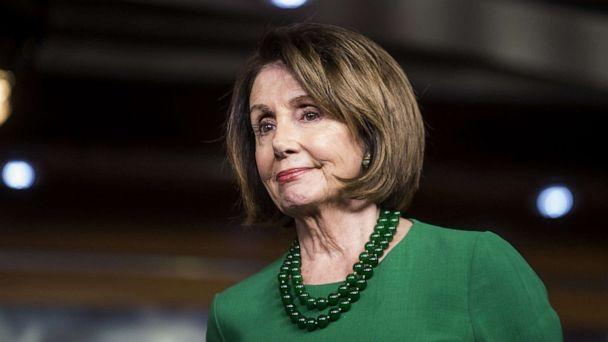 PHOTO: House Speaker Nancy Pelosi (D-CA) listens during a news conference discussing the College Affordability Act, Oct. 15, 2019, in Washington, DC. (Zach Gibson/Getty Images)