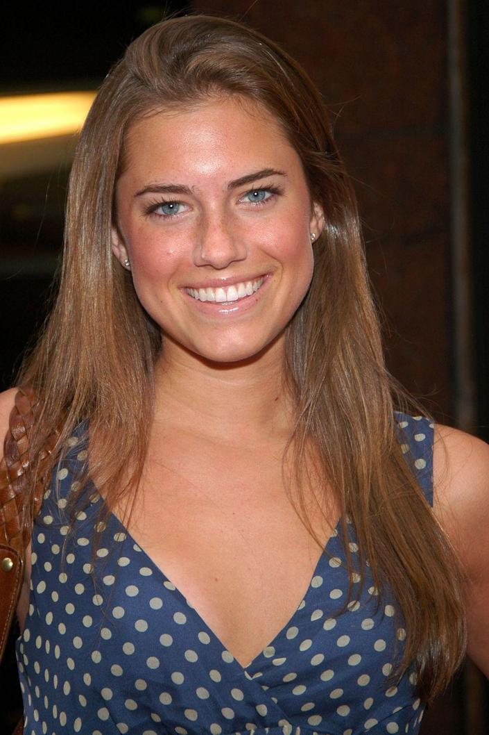<p>A medium-to-light brown is Allison's natural color, just like her dad, Brian Williams.</p>