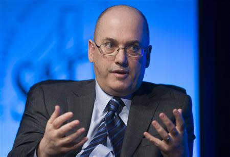 Hedge fund manager Steven Cohen of SAC Capital Advisors responds to a question during an interview in Las Vegas