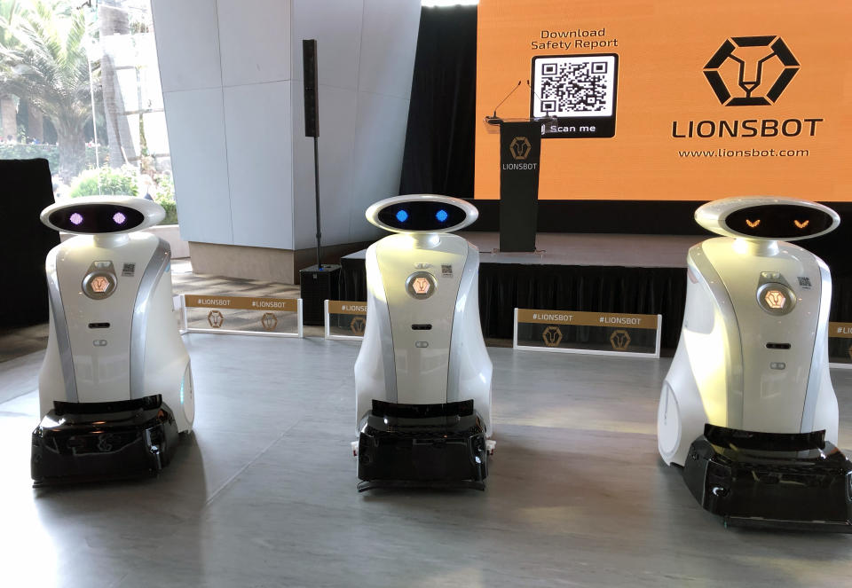 Prospective and current partners can rent the company's range of made-in-Singapore cleaning robots at $1,350 to $2,150 per month. (Yahoo News Singapore file photo)