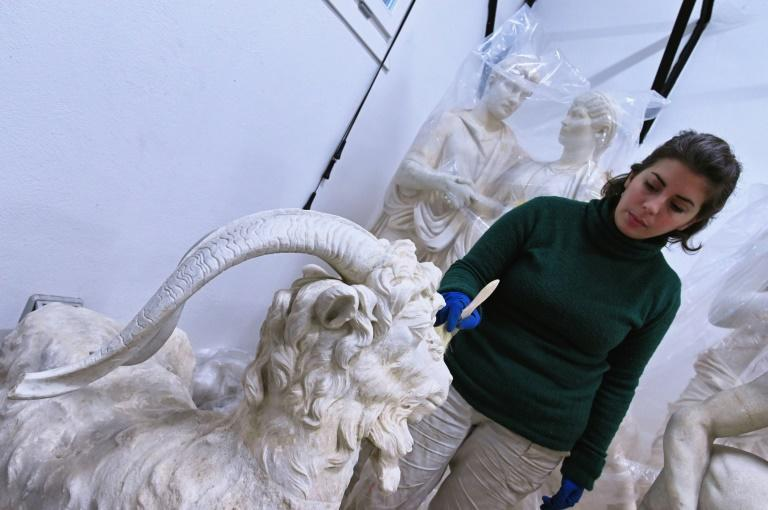 """""""The resting goat"""" sculpture was once restored by legendary Baroque artist Bernini"""