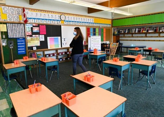 In-class learning isn't happening right now at some Ottawa schools because of COVID-19-related issues. (Nathan Denette/The Canadian Press - image credit)