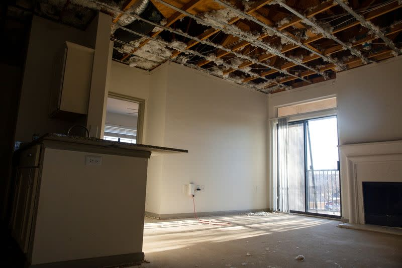 FILE PHOTO: Damaged apartments and homes after winter weather caused blackouts and water pipes to burst in Fort Worth