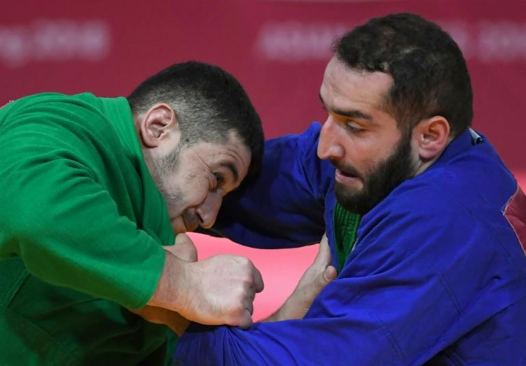 The wrestling sport of kurash made its Asian Games debut