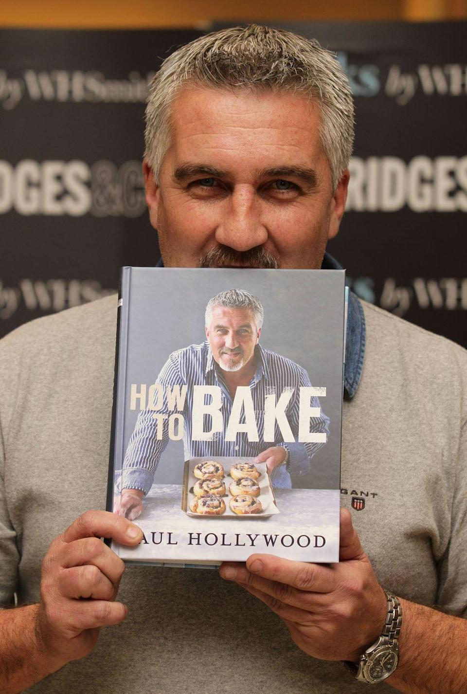 """<p>This dude took some time after his initial wild British success to go to Cyprus, Egypt, and Jordan to study the techniques and sciences behind ancient methods of baking bread. </p><p>Oh, and he's written seven <a href=""""http://paulhollywood.com/books-2/"""" rel=""""nofollow noopener"""" target=""""_blank"""" data-ylk=""""slk:books"""" class=""""link rapid-noclick-resp"""">books</a> on all his expertise. </p><p><a class=""""link rapid-noclick-resp"""" href=""""https://www.amazon.com/How-Bake-Paul-Hollywood/dp/140881949X?tag=syn-yahoo-20&ascsubtag=%5Bartid%7C1782.g.21989828%5Bsrc%7Cyahoo-us"""" rel=""""nofollow noopener"""" target=""""_blank"""" data-ylk=""""slk:BUY NOW"""">BUY NOW</a> <strong><em>How To Bake, $32; amazon.com</em></strong><br></p>"""