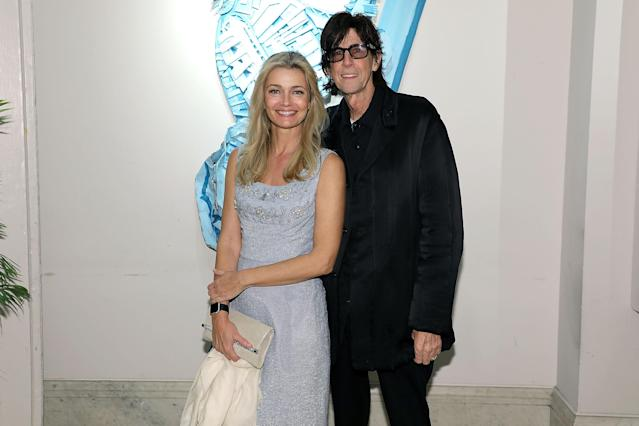 Paulina Porizkova, with Ric Ocasek in 2018, says she feels betrayed he removed her from his will. (Photo: Taylor Hill/Getty Images for The Art Students League of New York)