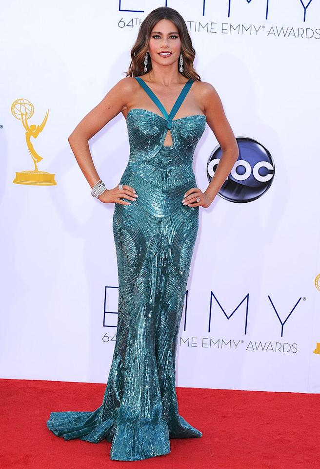 LOS ANGELES, CA - SEPTEMBER 23:  Sofia Vergara arrives at the 64th Primetime Emmy Awards at Nokia Theatre L.A. Live on September 23, 2012 in Los Angeles, California.  (Photo by Steve Granitz/WireImage)