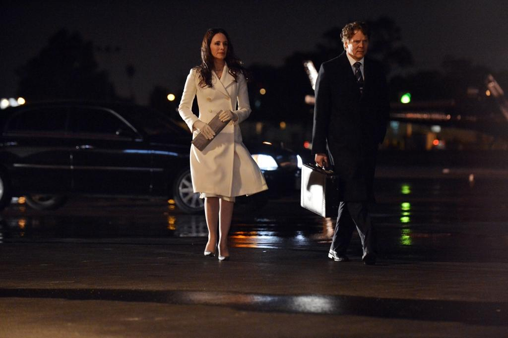 "Victoria (Madeleine Stowe) and Agent John McGowen (Michael Reilly Burke) have another secret meeting in the ""Reckoning"" episode of ""Revenge.""<br><br>Tune  in to ""Revenge"" this week to see what happens on the season finale --  and be sure to download our super-cool TV app, IntoNow, and <a href=""http://www.intonow.com//promo/revenge"">enter our ""Revenge"" sweepstakes</a> to win a luxury getaway in the Hamptons."