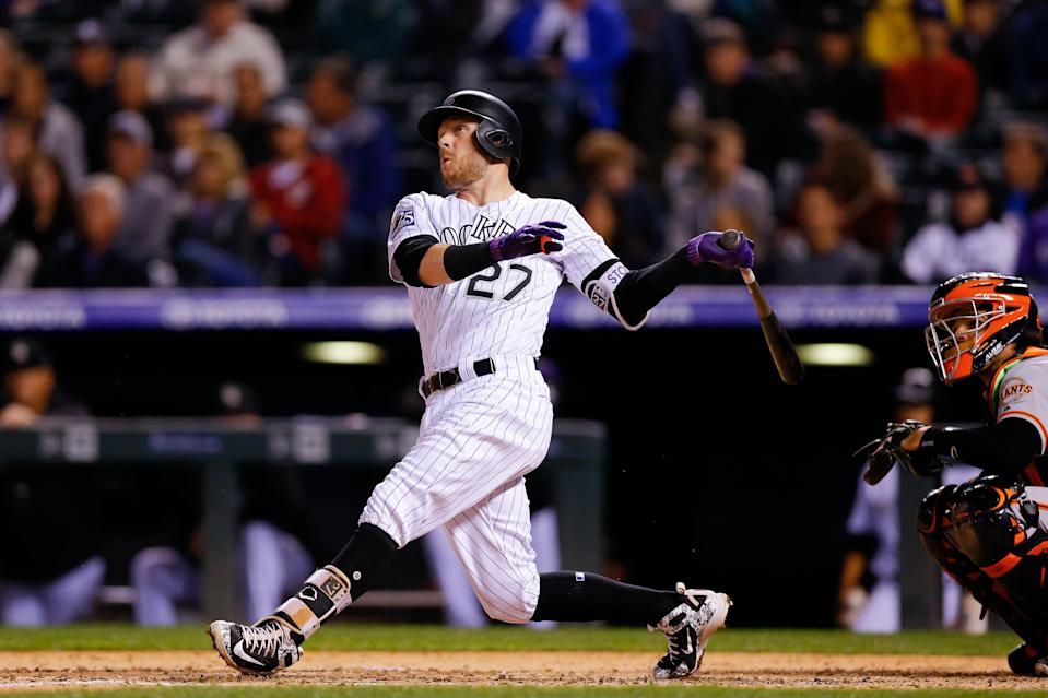 Even as far as three-homer games go, Trevor Story had a wild night at the plate. (AP Photo)