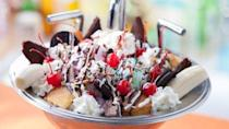 """<p>Made popular at Disney's Beach Club Resort's Beaches and Cream Soda Shop, the Kitchen Sink consists of <a href=""""https://disneyparks.disney.go.com/blog/kitchen-sink-dessert-recipe-at-beaches-and-cream-at-disney%E2%80%99s-beach-club-resort/"""" rel=""""nofollow noopener"""" target=""""_blank"""" data-ylk=""""slk:more scoops of ice cream"""" class=""""link rapid-noclick-resp"""">more scoops of ice cream</a> than we can count, honestly! </p>"""