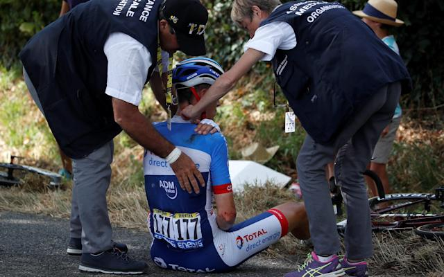 Niki Terpstra was forced to abandon the Tour de France following a crash during stage 11 - REUTERS