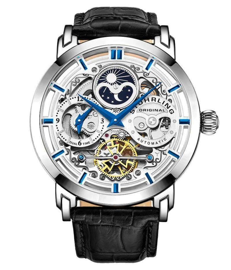 "<p><strong>stuhrling original</strong></p><p>stuhrling.com</p><p><strong>$62.50</strong></p><p><a href=""https://go.redirectingat.com?id=74968X1596630&url=https%3A%2F%2Fwww.stuhrling.com%2Fwatch%2Fmens-legacy-371-anatol%2F&sref=https%3A%2F%2Fwww.townandcountrymag.com%2Fstyle%2Fjewelry-and-watches%2Fg32980752%2Fbest-skeleton-watches%2F"" rel=""nofollow noopener"" target=""_blank"" data-ylk=""slk:Shop Now"" class=""link rapid-noclick-resp"">Shop Now</a></p><p>An am/pm indicator and second time-zone subdial make this watch more intricate, not to mention more functional, than others. </p>"