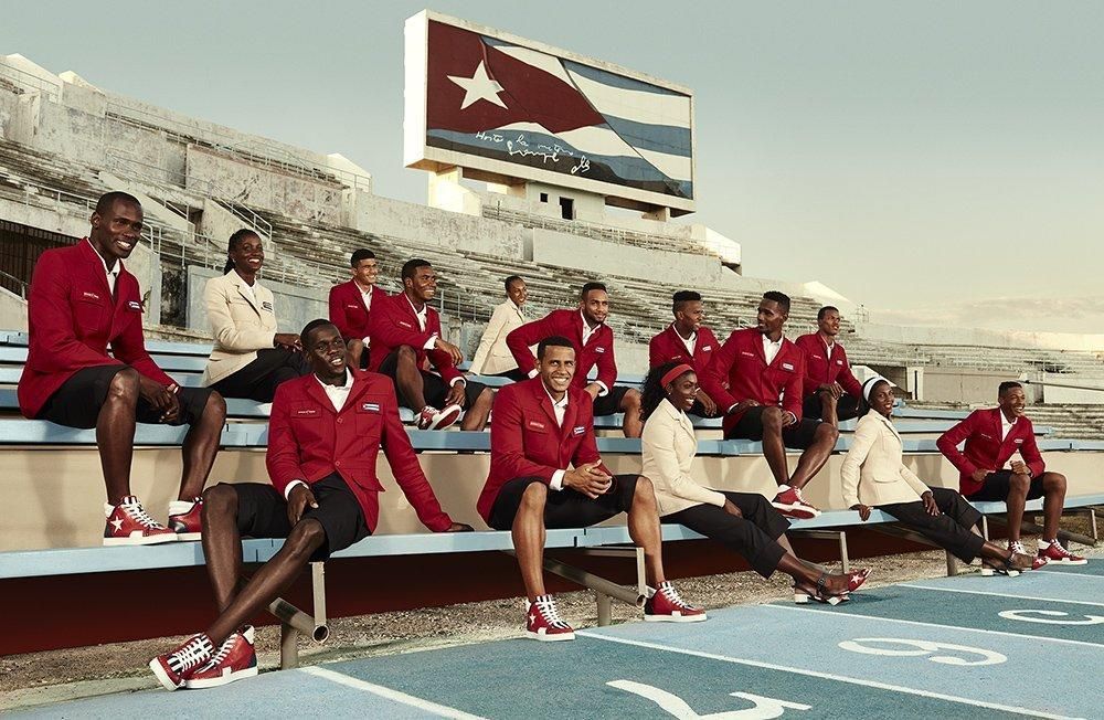 <p>The Cuban olympic team has been styled by none other than the king of footwear Christian Louboutin. And they look ridiculously stylish. <i>[Photo: Cuba Olympics]</i></p>