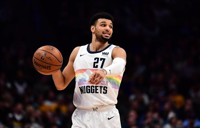 """<a class=""""link rapid-noclick-resp"""" href=""""/nba/players/5638/"""" data-ylk=""""slk:Jamal Murray"""">Jamal Murray</a> has a very unpopular take when it comes to the best player in the 2019 NBA draft. (Ron Chenoy/USA Today Sports)"""