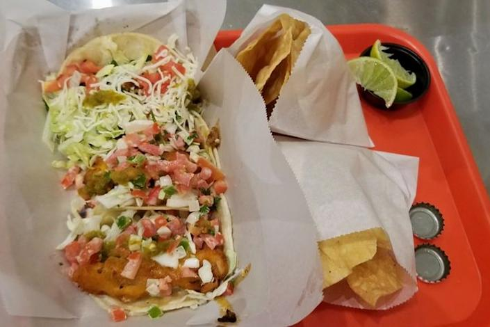 """<b>Photo: Stephanie M./<a href=""""https://yelp.com/biz_photos/street-taco-and-beer-tucson?utm_campaign=cb324408-95e5-4101-ac12-a26cac15e466%2C6cad4fe2-720a-4f8d-ac5b-2b09748ae2ed&utm_medium=81024472-a80c-4266-a0e5-a3bf8775daa7"""" rel=""""nofollow noopener"""" target=""""_blank"""" data-ylk=""""slk:Yelp"""" class=""""link rapid-noclick-resp"""">Yelp</a></b>"""
