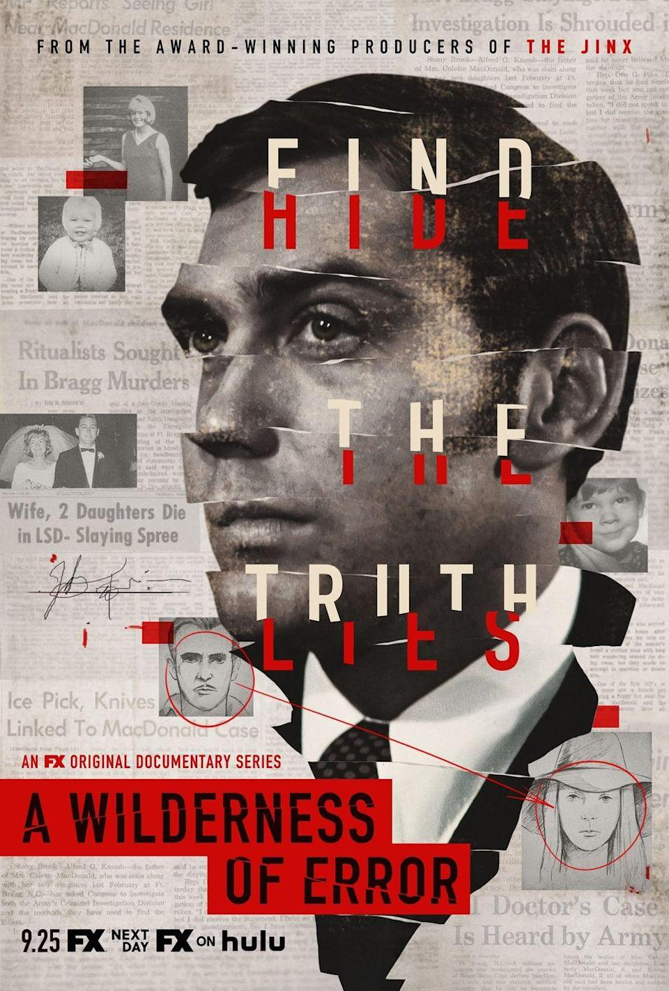"""<p>This Hulu doc examines the case of Jeffrey MacDonald, a Princeton alum and former Green Beret who may or may not have murdered his entire family in 1970. His side of the story: A group of Manson-family copycats broke into his house and chanted """"kill the pigs"""" during the attack. </p><p>MacDonald subsequently went on a big press tour, appearing on talk shows and giving interviews about the killings, which made police question his innocence. Since then, the case has been covered in several books and movies, and remains — basically — unsolved.</p><p><a class=""""link rapid-noclick-resp"""" href=""""https://go.redirectingat.com?id=74968X1596630&url=https%3A%2F%2Fwww.hulu.com%2Fseries%2Fa-wilderness-of-error-a1402111-43a3-4d1b-9a92-bf3fe853ef22&sref=https%3A%2F%2Fwww.womenshealthmag.com%2Flife%2Fg28068183%2Fbest-true-crime-documentaries%2F"""" rel=""""nofollow noopener"""" target=""""_blank"""" data-ylk=""""slk:Watch Now"""">Watch Now</a></p>"""