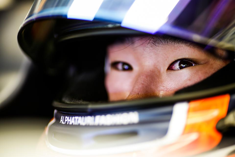 ABU DHABI, UNITED ARAB EMIRATES - DECEMBER 15: Yuki Tsunoda of Scuderia AlphaTauri and Japan  during the F1 Young Drivers Test at Yas Marina Circuit on December 15, 2020 in Abu Dhabi, United Arab Emirates. (Photo by Peter Fox/Getty Images)
