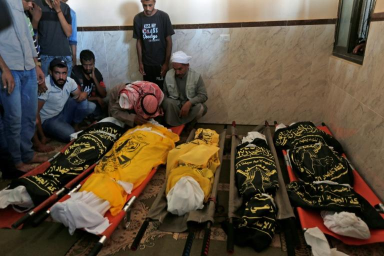 Palestinian officials said eight members of the same family, including five children, were killed (AFP Photo/MAHMUD HAMS)