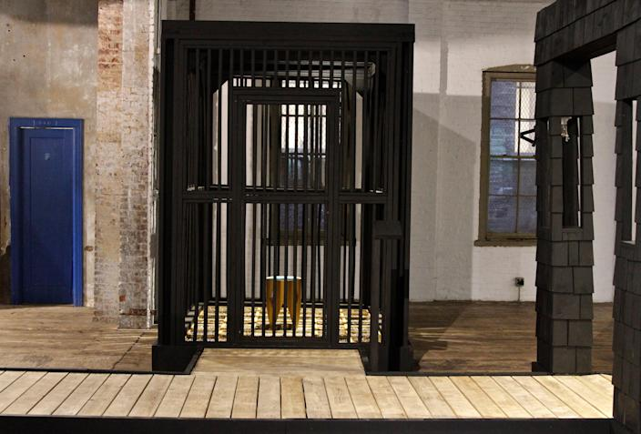 "A six-by-six foot ""cage"" from the new exhibition."