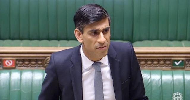 Chancellor Rishi Sunak makes a statement in the House of Commons on the government's economic package in response to the coronavirus outbreak. (House of Commons/PA via Getty)