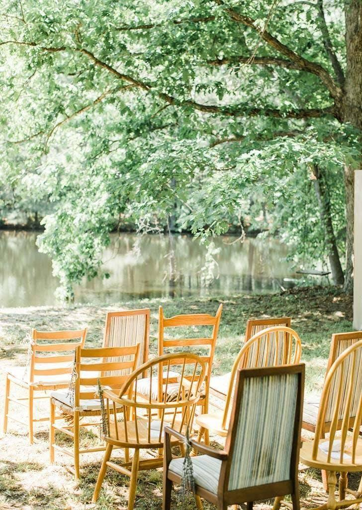 The seating was from the couple's own living room (Danielle Riley Photography)