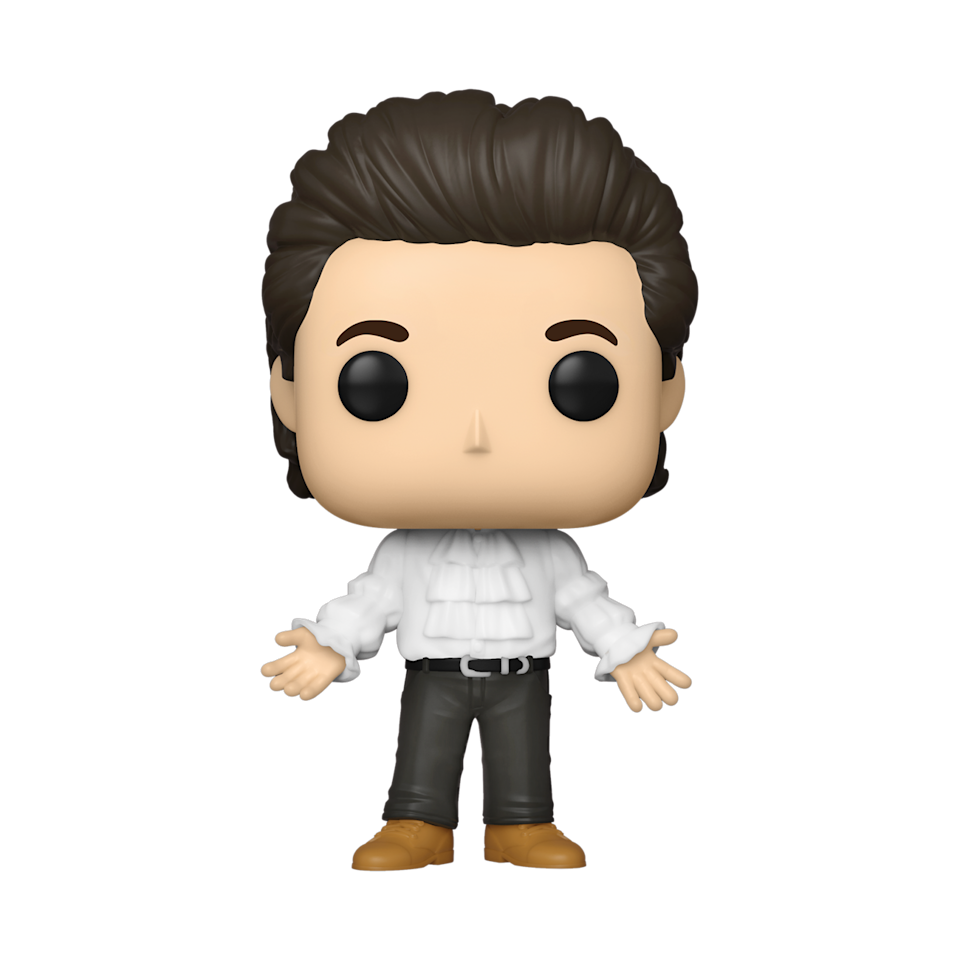 Funko is launching a new 'Seinfeld' themed collection of merchandise that includes this collectible vinyl figure of Jerry Seinfeld in his famous puffy shirt (Photo: Funko)