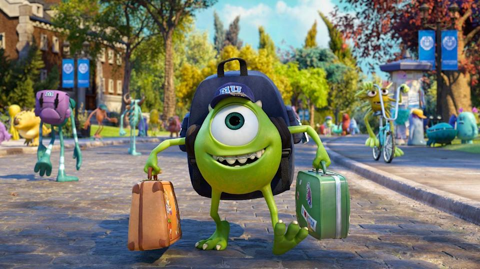 """This film publicity image released by Disney-Pixar shows Mike Wazowski, voiced by Billy Crystal in a scene from """"Monsters University."""" (AP Photo/Disney-Pixar)"""