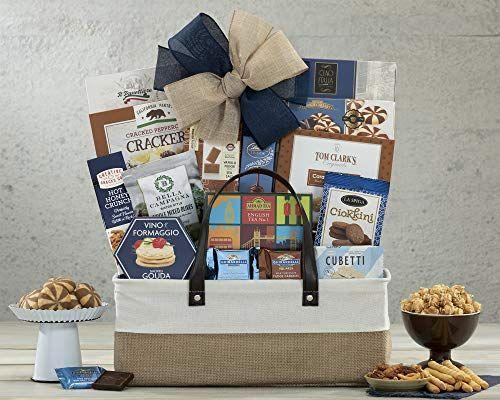 """<p><strong>Wine Country Gift Baskets</strong></p><p>amazon.com</p><p><strong>$42.86</strong></p><p><a href=""""https://www.amazon.com/dp/B009LHPM2Y?tag=syn-yahoo-20&ascsubtag=%5Bartid%7C10055.g.19694294%5Bsrc%7Cyahoo-us"""" rel=""""nofollow noopener"""" target=""""_blank"""" data-ylk=""""slk:Shop Now"""" class=""""link rapid-noclick-resp"""">Shop Now</a></p><p>Most days, your mom is little bit salty, but a whole lotta sweet. This gift basket, complete with chocolates, crackers, and other snacks, shows just how well sugar and salt complement each other. </p><p><strong>RELATED: </strong><a href=""""https://www.goodhousekeeping.com/holidays/mothers-day/g3450/last-minute-mothers-day-gifts/"""" rel=""""nofollow noopener"""" target=""""_blank"""" data-ylk=""""slk:Last-Minute Mother's Day Cards That'll Arrive Just in Time"""" class=""""link rapid-noclick-resp"""">Last-Minute Mother's Day Cards That'll Arrive Just in Time</a></p>"""