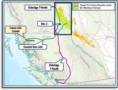 Figure 1: B.C. Natural Gas Transportation Infrastructure (CNW Group/Topaz Energy Corp)