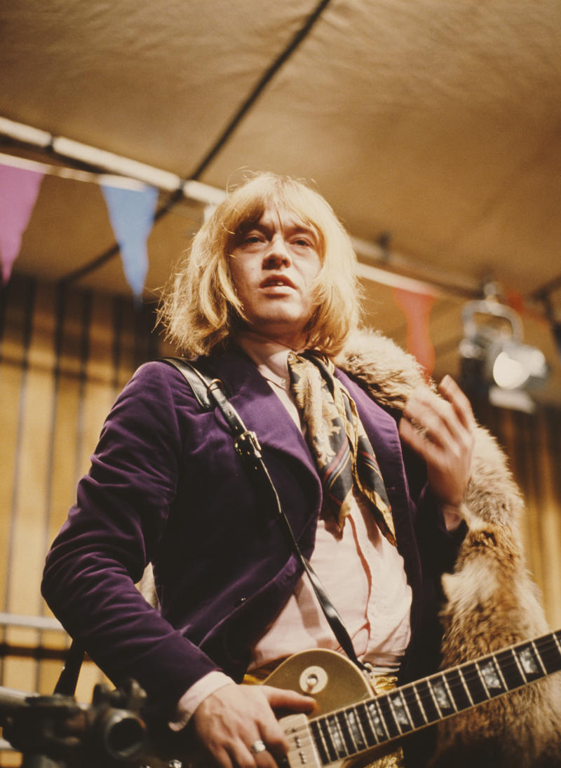 Brian Jones on the set of the Rolling Stones' 'Rock and Roll Circus,' about seven months before his death. (Photo: Mark and Colleen Hayward/Redferns)