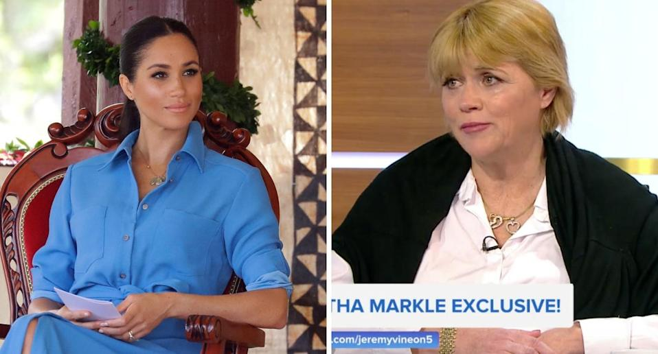 Samantha has publicly criticised her half sister Meghan since she and Harry started dating (PA/Channel 5)