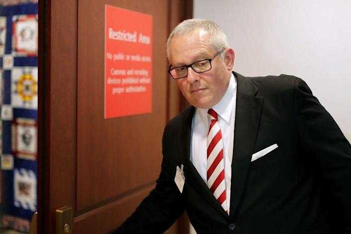WASHINGTON, DC – JULY 14: Former Trump campaign aide Michael Caputo arrives to testify before the House Intelligence Committee during a closed-door session at the U.S. Capitol Visitors Center July 14, 2017 in Washington, DC. Caputo resigned from being a Trump campaign communications advisor after appearing to celebrate the firing of former campaign manager Corey Lewandowski. Denying any contact with Russian officials during the 2016 campaign, Caputo did live in Moscow during the 1990s, served as an adviser to former Russian President Boris Yeltsin and did pro-Putin public relations work for the Russian conglomerate Gazprom Media. (Photo by Chip Somodevilla/Getty Images)