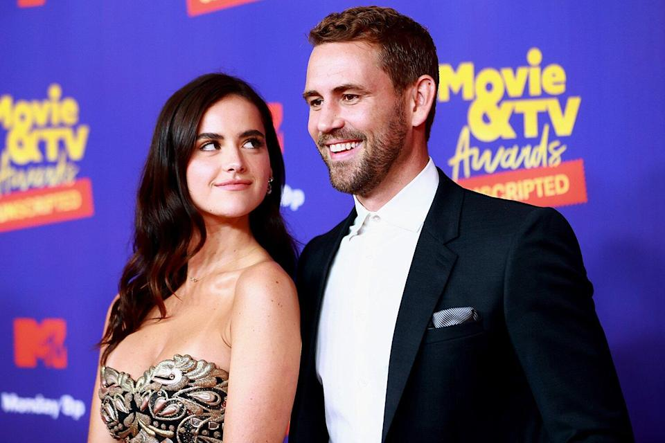 Natalie Joy and Nick Viall attend the 2021 MTV Movie & TV Awards: UNSCRIPTED