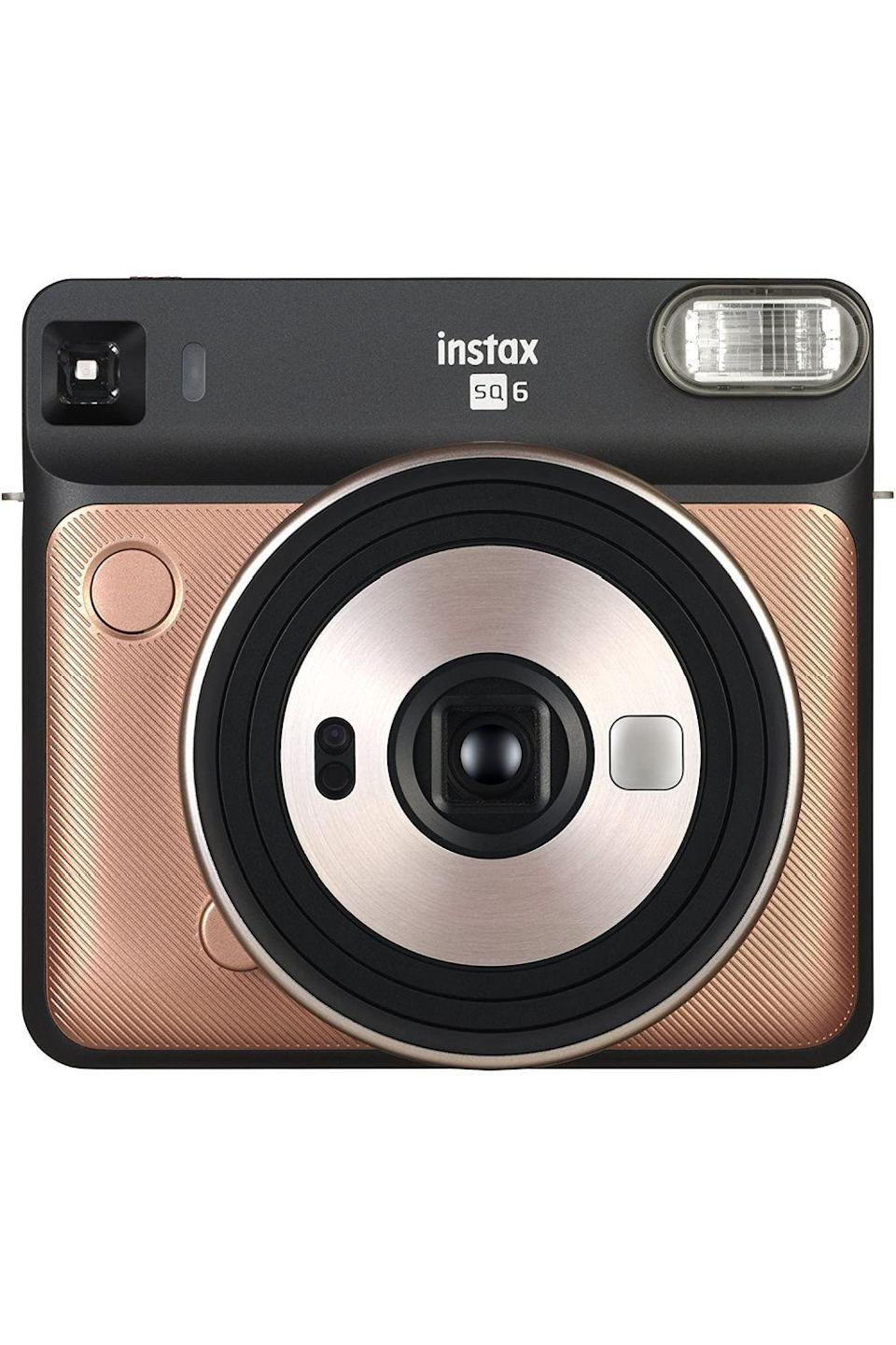 """<p><strong>instax</strong></p><p>amazon.com</p><p><strong>$82.99</strong></p><p><a href=""""https://www.amazon.com/dp/B07CV6XRBD?tag=syn-yahoo-20&ascsubtag=%5Bartid%7C10049.g.36149947%5Bsrc%7Cyahoo-us"""" rel=""""nofollow noopener"""" target=""""_blank"""" data-ylk=""""slk:Shop Now"""" class=""""link rapid-noclick-resp"""">Shop Now</a></p><p>This instant camera comes equipped with color filters, five different shooting modes (for taking the perfect selfies, landscapes, and close-up photos), and other features for making your instant photos look even cooler.</p>"""