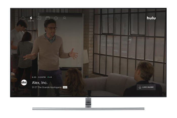 Hulu Live TV on a television.