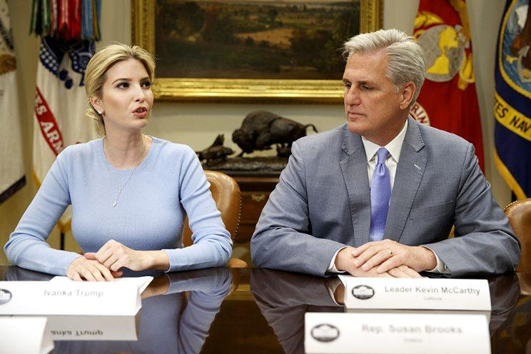 Ivanka Trump at a meeting with congressional leaders.