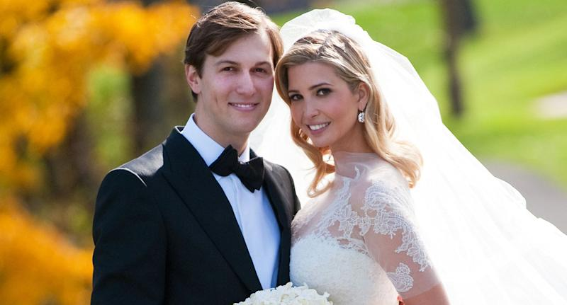 Jared Kushner and Ivanka Trump pictured on their wedding day. [Photo: Getty]