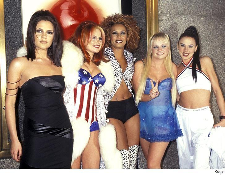 The Spice Girls attending the 1997 MTV Video Music Awards. Source: Getty